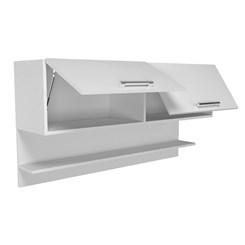 Armário Aéreo para Cozinha 2 Portas Basculantes - Nova Mobile - Branco