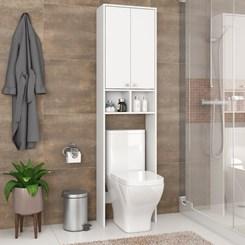Armário Banheiro 1 Prateleira 1 Nicho e 2 Portas 47cm Fellicci Branco