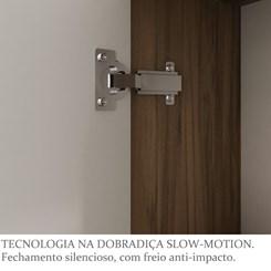Armário para Banheiro 01 Porta Firenze 30cm - Bosi - Nogal/Branco