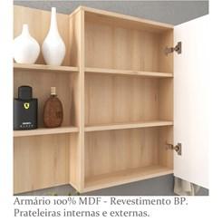 Armário para Banheiro 1 Porta Jazz 80cm - Bosi - Faia/Branco