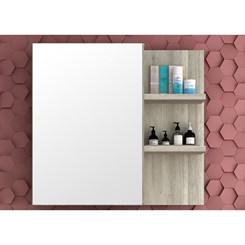 Armário para Banheiro 1 Porta Malbec 80cm - Bosi - Barrique/Argento