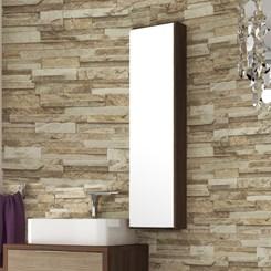 Armário para Banheiro 1 Porta Vegas 25cm - Bosi - Nogal Malaga/ Carvalho Batur