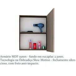 Armário para Banheiro 1 Porta Vegas 50cm - Bosi - Nogal Malaga/ Carvalho Batur