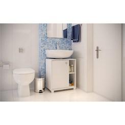 Balcão Versa Para Banheiro 1 Porta - BRV BBN 01-06 - Branco