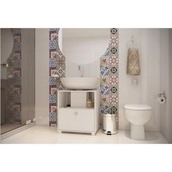 Balcão Versa Para Banheiro Porta Basculante - BRV BBN 02-06 - Branco