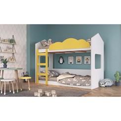 Beliche Montessoriano formato casinha CMP Branca e amarelo