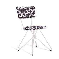 Cadeira Butterfly Estofada - DAF - Suede Preto/Branco
