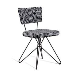 Cadeira Butterfly Retro - DAF - Suede Preto/Branco