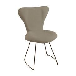 Cadeira Jacobsen Meia Lua - DAF - Linho Cinza