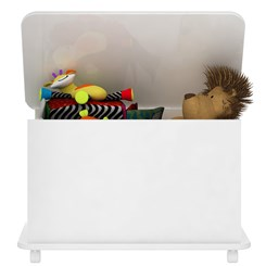 Caixa de Brinquedos com Rodízios BB 710 Completa Móveis Branca