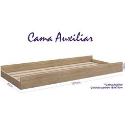 Cama Auxiliar Com Rodízios BB 692 Completa Móveis Carvalho