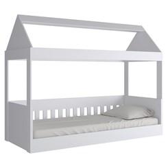 Cama Infantil Baixa com Telhado KD1640 - Quiditá - Branco