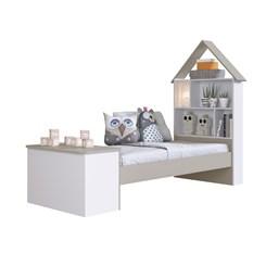 Cama Infantil com Baú e Estante Children'S House - Art In - Branco