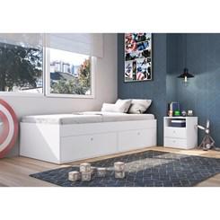 Cama Solteiro 90 com 4 Portas Tókio - Art In - Branco