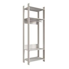 Closet CLA1000 com Prateleira e Cabideiro Completa Móveis Off White