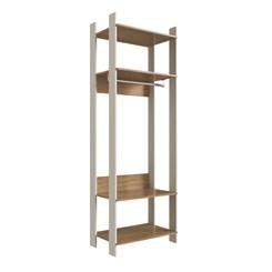 Closet CLA1000 com Prateleira e Cabideiro Completa Móveis Off White / Itapuã