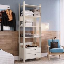 Closet CLA1003 com Gaveta e Prateleira Completa Móveis Off White