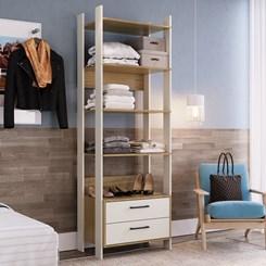 Closet CLA1003 com Gaveta e Prateleira Completa Móveis Off White / Itapuã