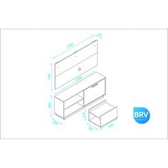 Conjunto Compacto - BRV BR 398-06 - Branco
