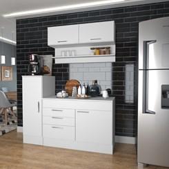 Conjunto Cozinha Compacta Marajó com 5 PT 2 GV - Nova Mobile - Branco