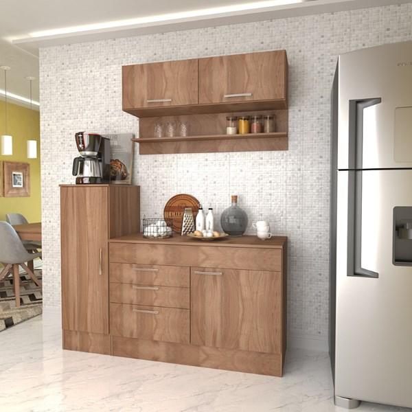 Conjunto Cozinha Compacta Marajó com 5 PT 2 GV - Nova Mobile - Montana
