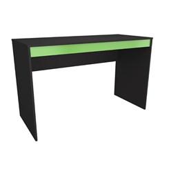 Conjunto gamer com mesa e estante Nova Mobile Preto e verde