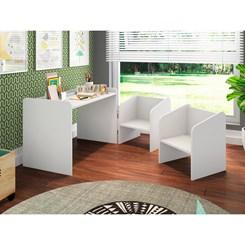 Conjunto Mesa e Cadeiras Montessoriano Meu Fofinho - Art In - Branco