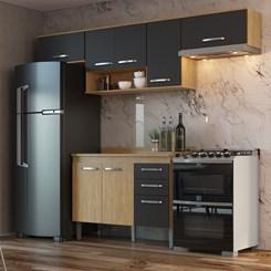 Cozinha Bélgica A3093 - Casamia - Mel/Grafite/Mel