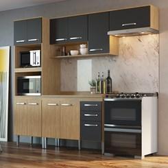 Cozinha Bélgica A3095 - Casamia - Mel/Grafite/Mel
