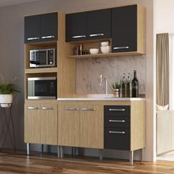 Cozinha Bélgica A3097 - Casamia - Mel/Grafite/Mel