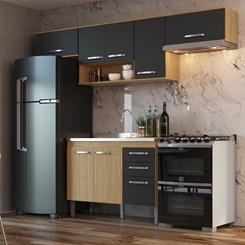 Cozinha Bélgica A3098 - Casamia - Mel/Grafite/Mel