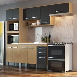 Cozinha Bélgica A3099 - Casamia - Mel/Grafite/Mel