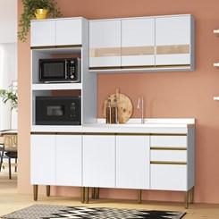 Cozinha Casablanca A3497 - Casamia - Bco Acetinado/Reflecta