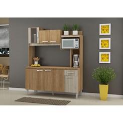 Cozinha Compacta ANGEL com tampo  - Fellicci -  Carvalho/Blanche