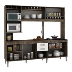 Cozinha Compacta HELEN com tampo  - Fellicci -  Naturalle/Branco