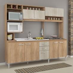 Cozinha Compacta HELEN sem tampo  - Fellicci -  Carvalho/Blanche