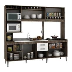 Cozinha Compacta HELEN sem tampo  - Fellicci -  Naturalle/Branco