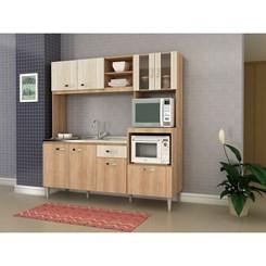 Cozinha Compacta TATI sem tampo  - Fellicci -  Carvalho/Blanche