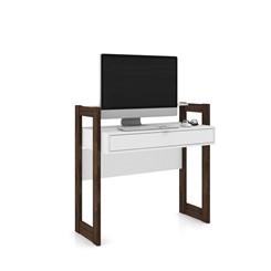 escrivaninha 1 Gaveta Az1007 - Tecno Mobili - Branco/Nogal
