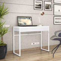 Escrivaninha Estilo Industrial Brisa Novabras Branco/Branco