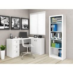 Estante Aberta Para escritório 4 Prateleiras Me4104 - Tecno Mobili - Branco