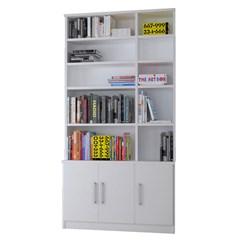 Estante De Livros 3 Portas 1280 Branco Foscarini
