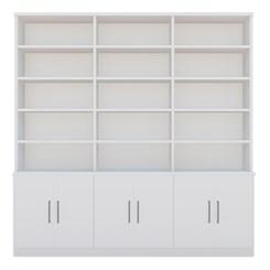 Estante De Livros 6 Portas 15 Prateleiras 1287 Branco Foscarini
