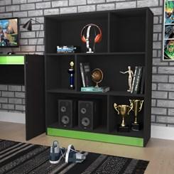 Estante Gamer B25 - Nova Mobile - Preto e Verde