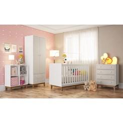 Estante Infantil com 4 Nichos BY 150 Completa Móveis Branca