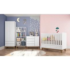 Estante Infantil com 8 Nichos BY 160 Completa Móveis Branca