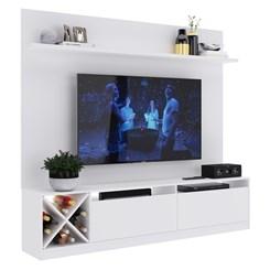 Estante para Home Theater e TV até 50 pol com adega Quiditá Branco