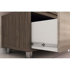 Gabinete e Basculante para Banheiro com Cuba e 02 Armários 80cm Vegas - Móveis Bosi - Nogal Málaga/C