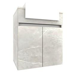Gabinete para Banheiro com Cuba Cora 60cm - Bosi - Reale/Branco