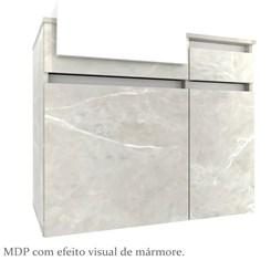 Gabinete para Banheiro com Cuba Cora 80cm - Bosi - Reale/Branco